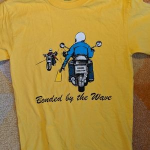 Motorcycle Shirt bonded by the wave